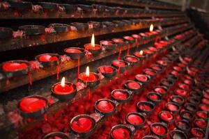 Praying candles photo