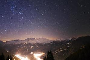 Geminid meteor shower - Valais photo