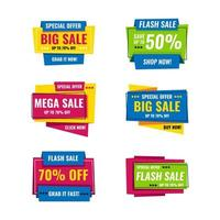 Origami Modern Colorful Sale Banner vector