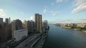City. cityscape. skyline. aerial view east river new york. NYC