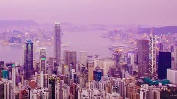 hong kong time-lapse (différentes cultures d'image disponibles) video