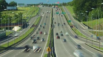 trânsito rodoviário de lapso de tempo video