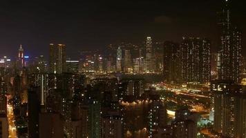 panorama de lapso de tempo hong kong video