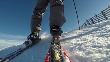 sciatore in discesa hd video