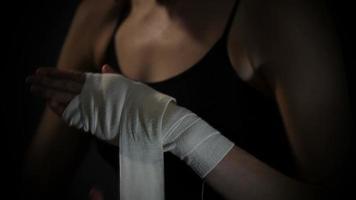 boxeador envolver las manos video