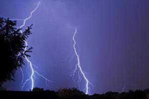 Lightning in the night photo