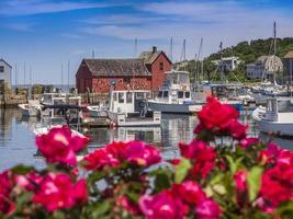 New England fishing village of Rockport, MA. USA