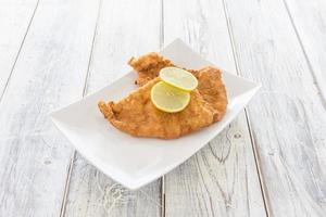 Schnitzel on a Plate