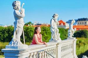 hermosa joven turista en viena