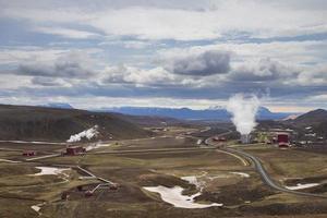 estación de energía geotérmica de Krafla foto