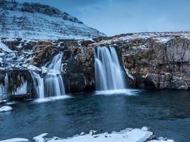 Kirkjufellsa Waterfall and Kirkjufell, Iceland