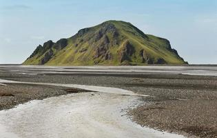 Iceland. South area. Landscape from Road F249 to Porsmork.