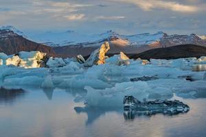 lagoa glaciar no leste da Islândia, natureza