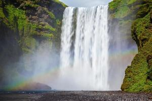 The waterfall in Iceland photo