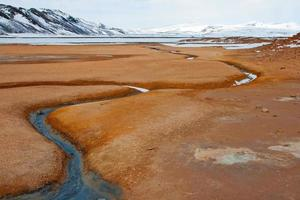 Hverir geothermal area in the north of Iceland.
