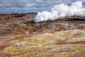 Gunnuhver geothermal area in Reykjanes Peninsula of Southern Ice