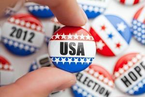 USA election voting pin photo