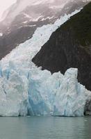língua da geleira upsala no lago, patagônia, argentina