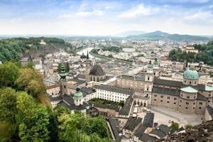 paisaje urbano de salzburgo, austria