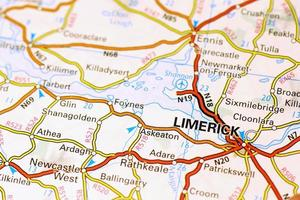 Limerick area on a map