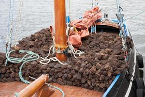 Boat loaded with turf photo