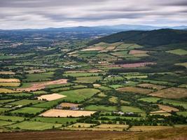 Vista desde el monte Leinster, Irlanda central foto