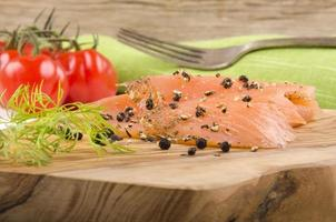 spicy irish wild salmon with pepper and dill