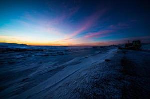 amanecer sobre la ciudad hveragerði