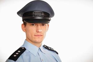 Portrait of young policeman photo