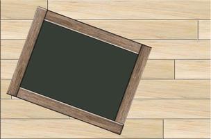 pizarra sobre fondo de madera