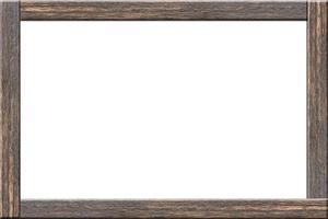 marco de madera sobre fondo blanco