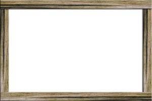 Wood frame on white background