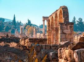 ruinas del templo en el líbano