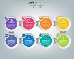 Gráfico de proceso de infografía abstracta con elementos