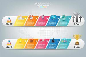 Infographic template and icons. Business concept with processes. vector