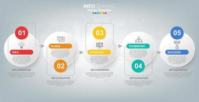 Infographics for business with success concept