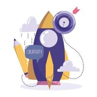Creativity and technology concept vector
