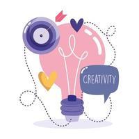 concepto de creatividad y tecnología