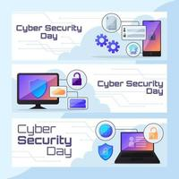 Cyber Security Technology Web Banner vector