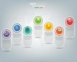 plantilla de infografía con iconos de marketing digital