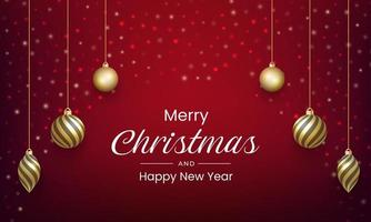 Merry Christmas and New Year back vector