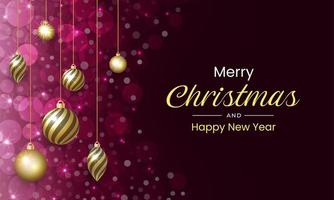 Merry Christmas with luxurious and sparkling background vector
