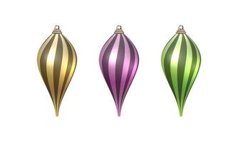 Merry Christmas ornaments set vector