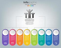 Timeline infographic template with icons in success concept vector