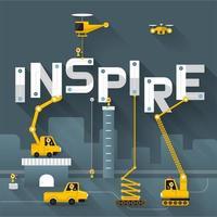 texto de construcción de ingeniería inspirar vector