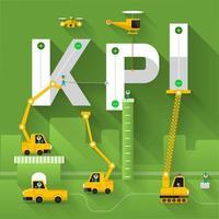 sitio de construcción edificio de grúa texto kpi vector