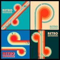 Set of vintage design backgrounds