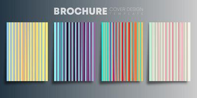 Set of colorful vertical lines gradient covers