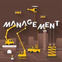 gestión de texto de construcción de ingeniería vector