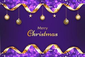Purple Merry Christmas background